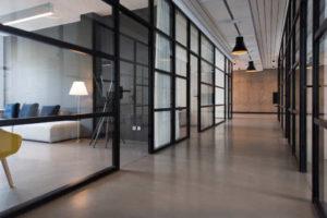 szklane biura